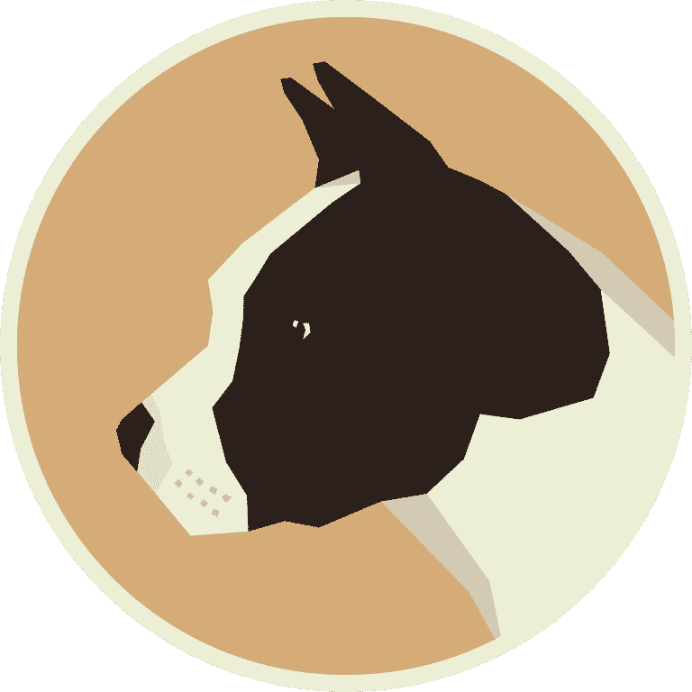 American Staffordshire Terrier Round frame