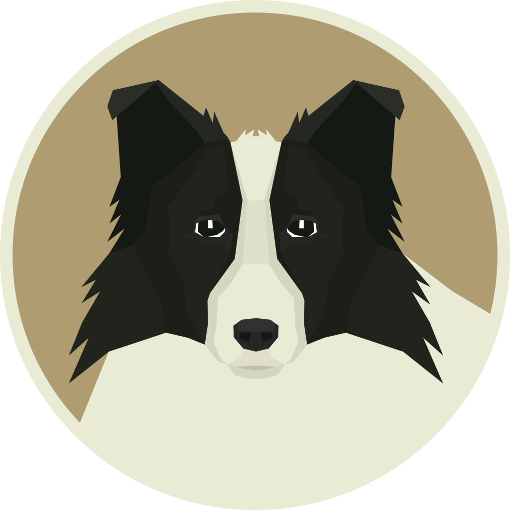 Border Collie Round frame